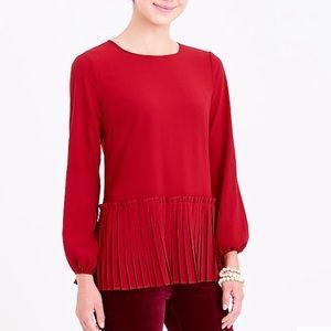Burgundy J.Crew blouse.